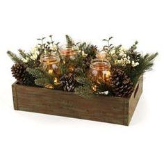 Mason Jar Pine Arrangement