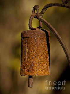 rusty old bell....the holder looks a bit like the item u just bought....