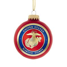 Marine Corps Emblem Glball Ornament Honor Ourve Men And Women In The U Marine Corps With This Officially Licensed Us Marine Corps Emblem Glball