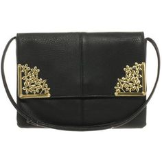 ASOS Clutch Bag With Flower Metal Corners