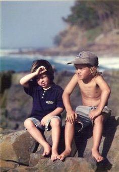 Young, Boys, Ocean, Coast, Beach