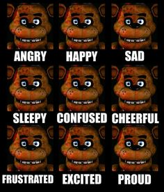 Fnaf the many faces of Freddy Fazbear. Freddy S, Five Nights At Freddy's, Pole Bear Fnaf, South Park, Cracked Wallpaper, Fnaf Wallpapers, Fnaf Characters, Fnaf Sl, Fnaf Drawings