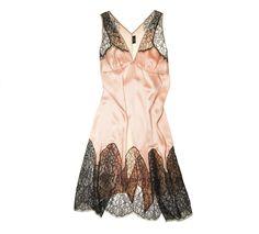 Deco Lace Chemise in Peach | Couture Silk Lace Nightwear | Specimens of Seduction by Layla L'obatti