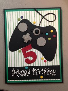 Birthday card for my little gamer.