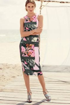Buy Spliced Print Bodycon Dress online today at Next: United States of America