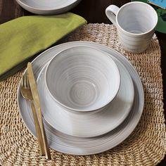 Flow Dinnerware, Set of 4, Dinner Plate