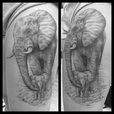 Finished Kay's mama and baby elephant. Thanks girly you were super tough…