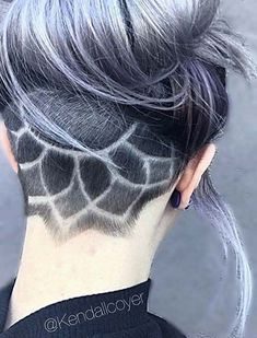 Women's Updo Undercut Hairstyles with Hair Tattoos #ShortHairStyles