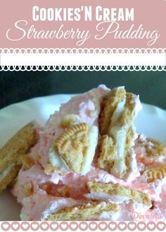Cookies'N Cream Strawberry Pudding I've been experimenting in my kitchen with my tried and true recipes. One of my staple desserts that I'm asked to bring