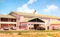 My granddad was heavily involved in building this place in the East Africa, Uganda, Postcards, Mansions, House Styles, Building, Places, Outdoor Decor, Wild Life