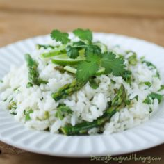 Cilantro Lime Asparagus and Rice with SeaPak Shrimp «Dizzy Busy and Hungry!