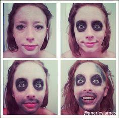 Beetlejuice #facepaint #bodyart #makeupbymarley #beetlejuice