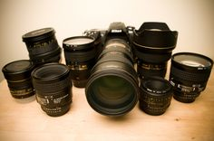Nikon 60mm 2.8 on left and 50mm 1.8 on right