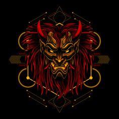 Ronin longish mask devil evil vector Premium Vector Ronin Samurai, Samurai Anime, Mermaid Art, Mermaid Paintings, Tattoo Mermaid, Vintage Mermaid, Samurai Tattoo, Demon Tattoo, Asian Wallpaper