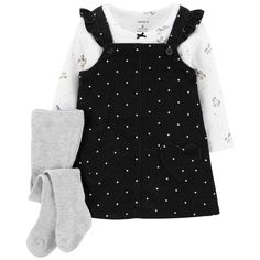 Carter's Baby Girl Polka-Dot Corduroy Jumper Unicorn Tee & Tights Set - April 13 2019 at Baby Outfits, Outfits Niños, Toddler Girl Outfits, Baby Girl Dresses, Toddler Dress, Kids Outfits, Girl Toddler, Fashion Outfits, Carters Baby Clothes