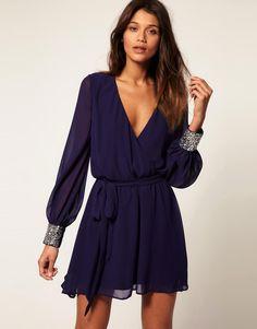 ASOS | ASOS Dress with Sequin Cuff at ASOS