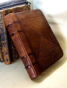 Vintage Leather Journal / Antiqued Blank Book An Old por TeoStudio