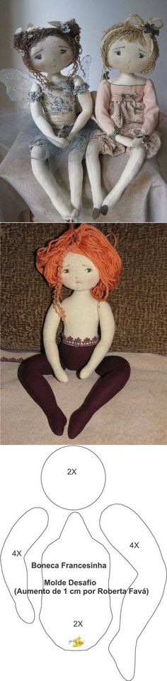 Структура милые куклы - PatronesMil