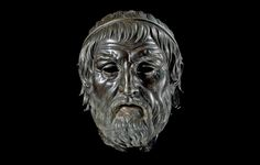 Bronze head, possibly of Sophocles. From Smyrna (lzmir), 2nd century BC.The British Museum