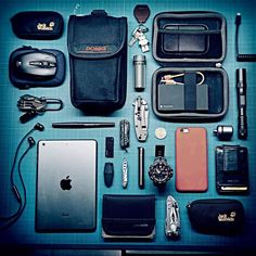http://bit.ly/1xGSCMP Submitted by TomTom • Apple iPhone 6 • Fossil Clip Wallet • Casio Protrek PRW-6000Y • Leatherman Freestyle • Fenix LD20 • Apple iPad Mini • Pacsafe Wallet • Leatherman Mini...