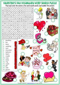 Valentine's Day ESL Vocabulary Worksheets
