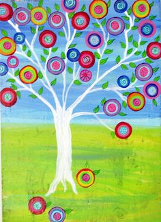 Original Tree of life Mexican folk art Painting on by icColors, $209.00