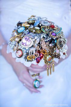 custom brooch bouquet wedding bouquet bridal by TheCrystalFlower, $575.00