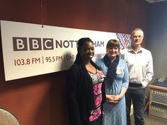 On BBC Radio Nottingham with Mark Dennison and Annika Vessell.