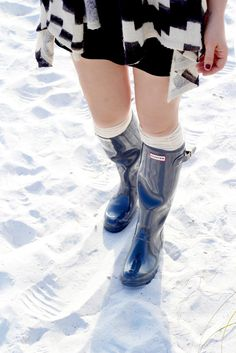 Hunter Boots on the beach