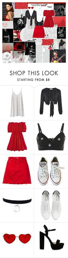 """""""madness is my old friend."""" by heynoah ❤ liked on Polyvore featuring WYLDR, Chicnova Fashion, Topshop, Nobody Denim, Converse, Prada and Kenzie"""