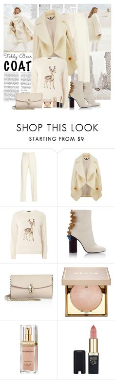 """""""Winter Coat"""" by polybaby ❤ liked on Polyvore featuring Sally Lapointe, Burberry, Dorothy Perkins, Dolce&Gabbana, Stila, Elizabeth Arden, L'Oréal Paris and teddybearcoats"""