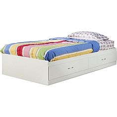 "South Shore Vito Collection Twin Mates Bed (39""), White"