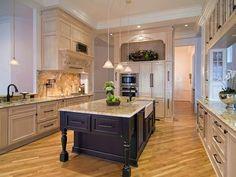 Old-World Kitchen with Cream Cabinets and Black Island : Designers' Portfolio : HGTV - Home & Garden Television