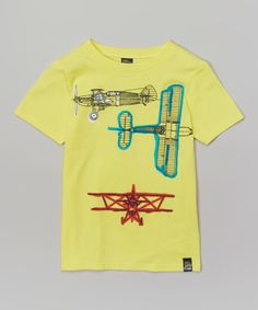 Look at this Charlie Rocket Lemonade Plane Tee - Toddler & Boys on #zulily today!