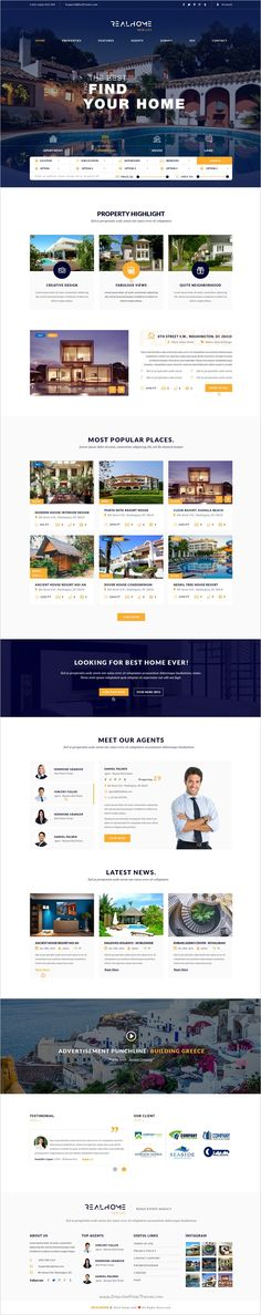RealHome is a visually stunning #PSD Template for #realestate business #website with 3 homepage layouts and 29 organized PSD pages download now➩ https://themeforest.net/item/realhome-vesatile-real-estate-psd-template/19036021?ref=Datasata