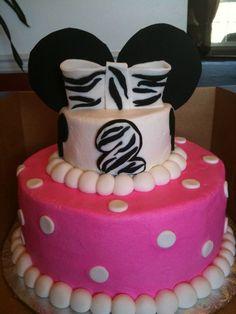 Minnie Mouse cake with some zebra