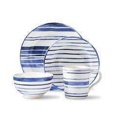 Cote D'Azur Stripe Salad Plate - Products - Ralph Lauren Home - RalphLaurenHome.com