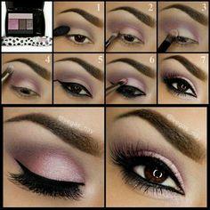 Eye makeup Light purple pink smokey eye