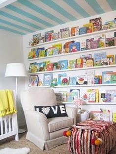 Would be GREAT for shelving in a reading nook - tons of storage without taking up all the space!