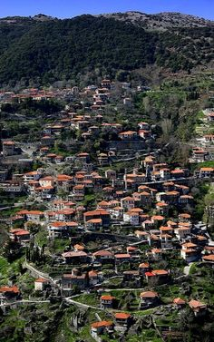 Langadia, mountain village and former municipality in Arcadia, Peloponnese, Greece Arcadia Greece, Corinth Canal, Greek History, Mountain Village, Paradise On Earth, Santorini, Athens, City Photo, Places To Go