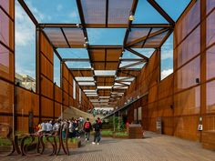 the Brazilian one pavillon / Designed by MOSAE Studio with Arthur Casas Studio and Atelier Marko Brajovic / corten steel