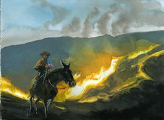 """The Mickster Rides Past The Burning Slag Heap of History On His Big Jack Mule"""