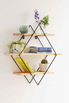 Diamond Cross Planes Shelf - Urban Outfitters