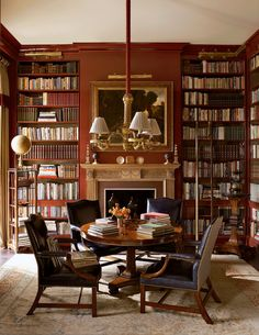 ~ Living a Beautiful Life ~ The Best Home Libraries from the Pages of AD : Architectural Digest Architectural Digest, Library Room, Dream Library, Cozy Library, Library Ladder, Library Table, Library Ideas, Beautiful Library, Magical Library