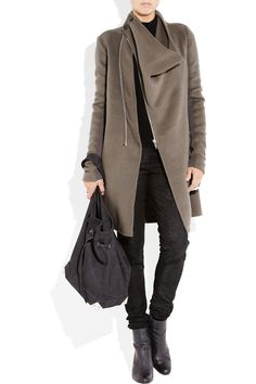 Rick Owens coat - love that opening!