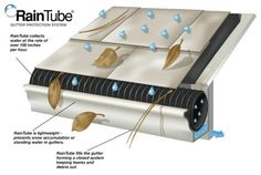 RainTube for gutters ~ why didn't I think of this earlier.....brilliant!!