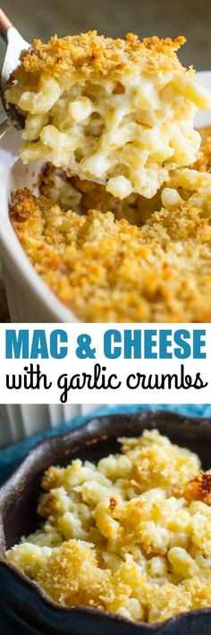 Super creamy Baked Macaroni and Cheese is already the ultimate comfort food, but an easy Garlic Butter Crumb topping puts it right over the top!