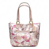 POPPY STAMPED C SMALL TOTE- perfect for spring time!