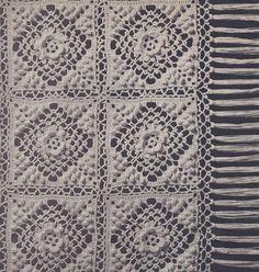 Irish Rose Popcorn bedspread pattern for sale on Vintage Home Arts