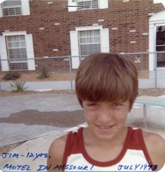 12 years old, In front of a motel in Missouri